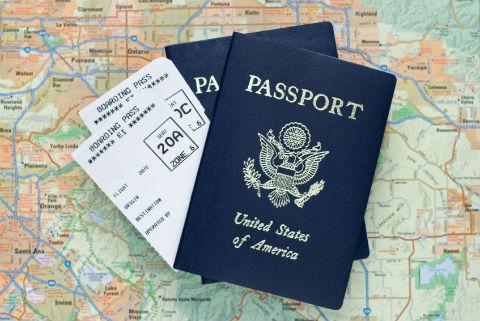 International-travel-map-passport-and-itinerary