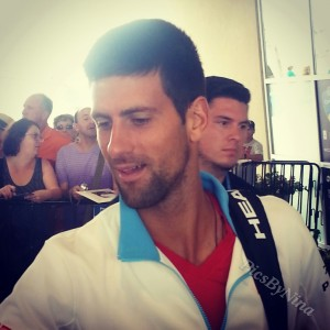 The always friendly Novak Djokovic