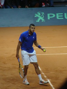 Steadier serving kept Tsonga ahead in set 2.