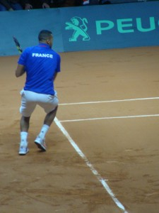 Tsonga thought today was the day to give his backhand the glory