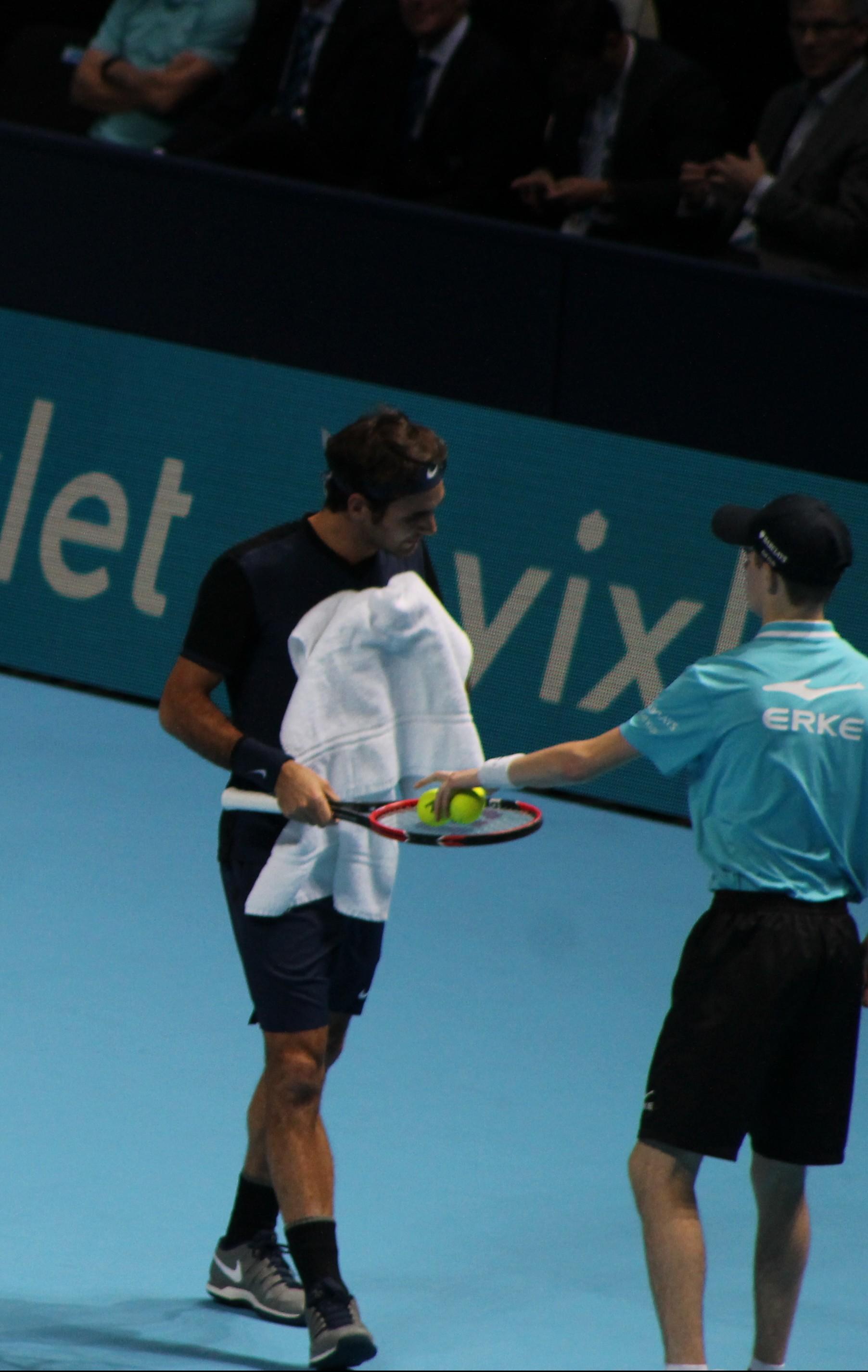 Roger Federer at the O2