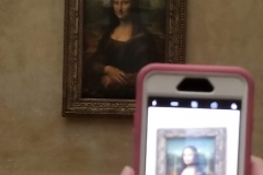 Mona Lisa on Cell Phone 2018
