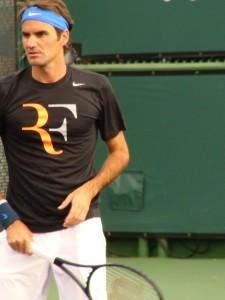 Federer at practice