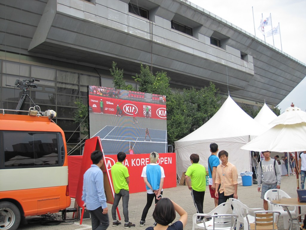 Spectator Area outside Center Court