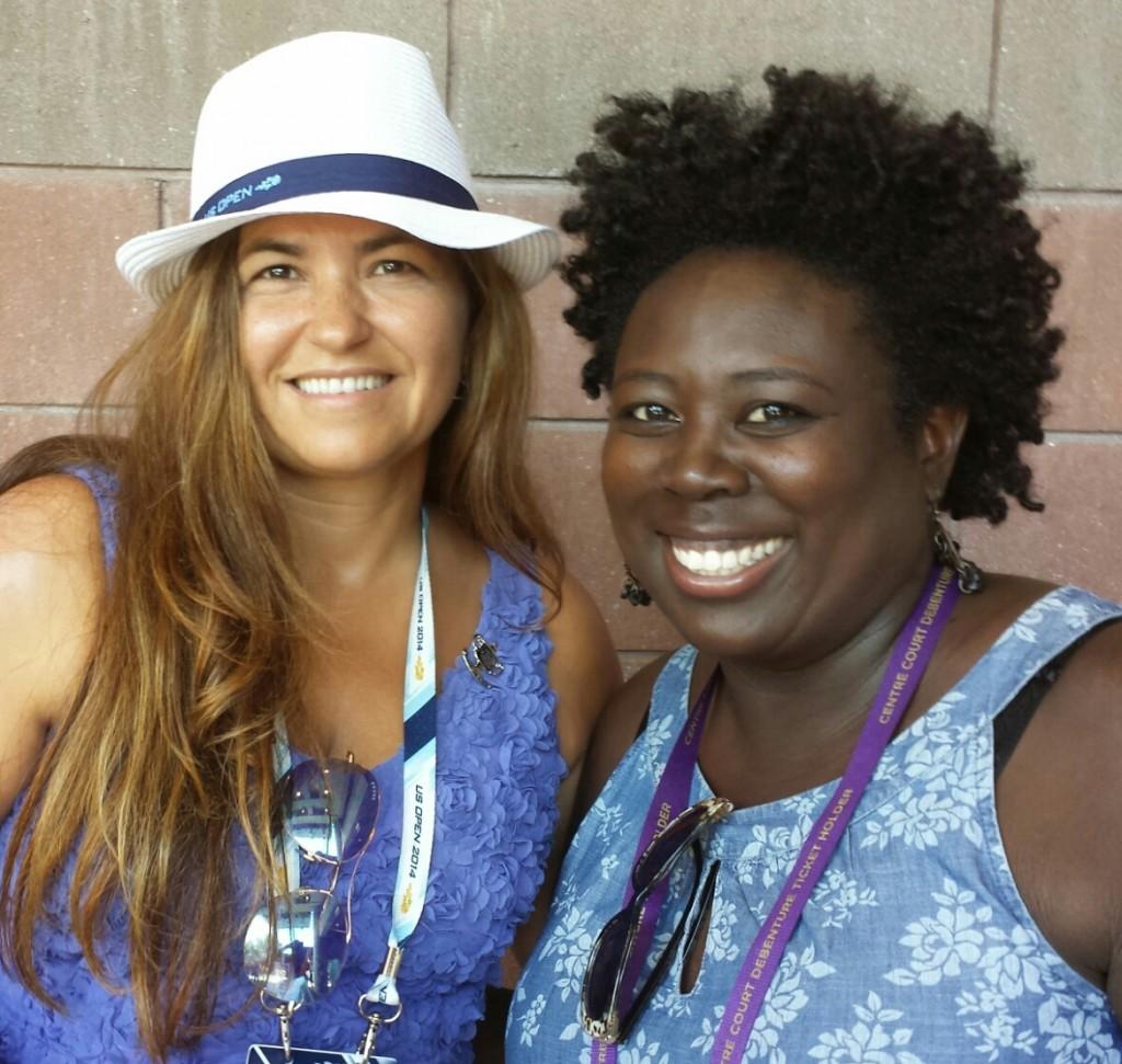 Ladies in Blue at USO