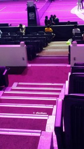 Who puts carpet in an arena?